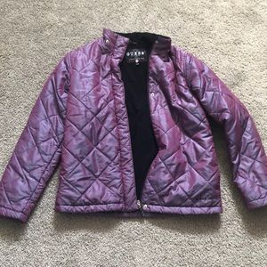 Guess Fall Metallic Purple Puffer Jacket Medium
